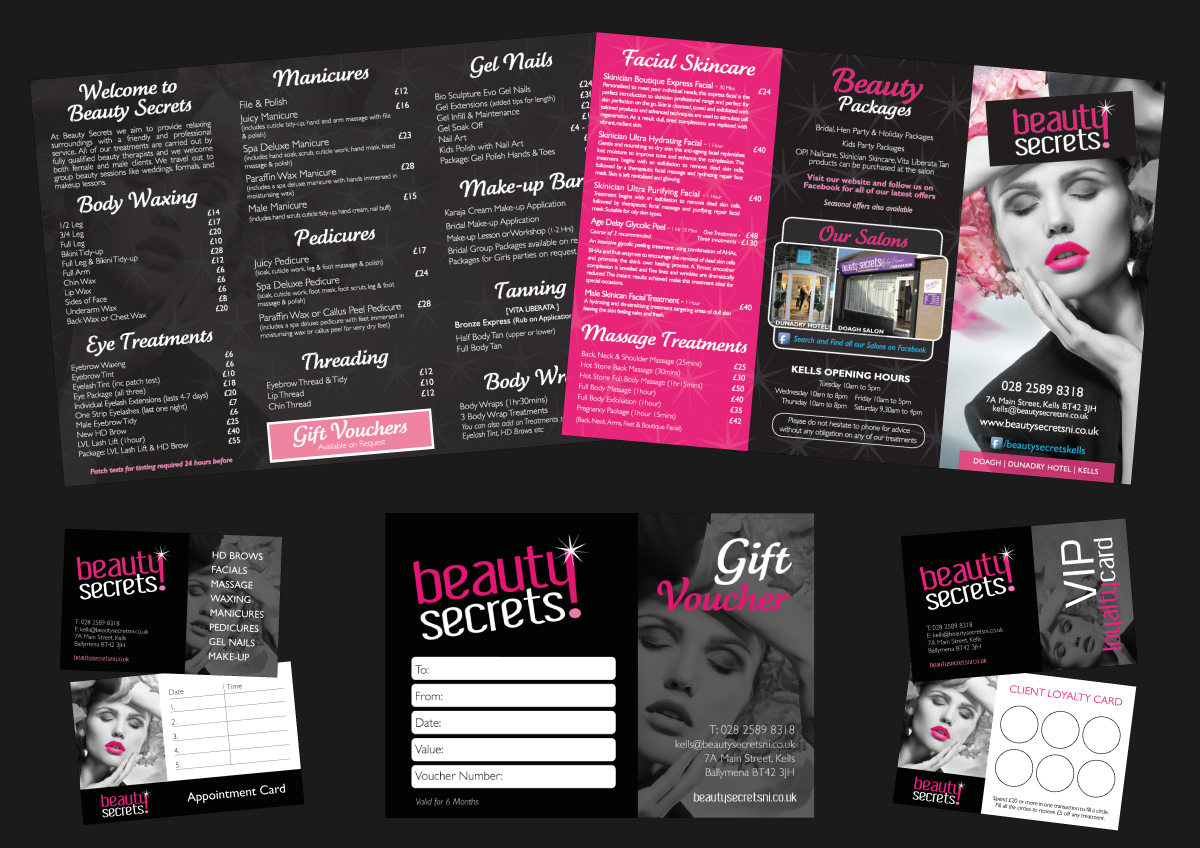 Beauty Salon Web Design, Branding & Identity Glasgow