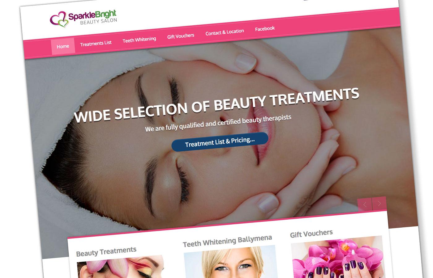 Web Design for Beauty Salon