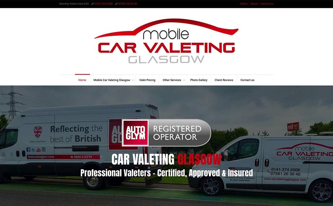 Car Valeting Glasgow - Web Designers in Glasgow