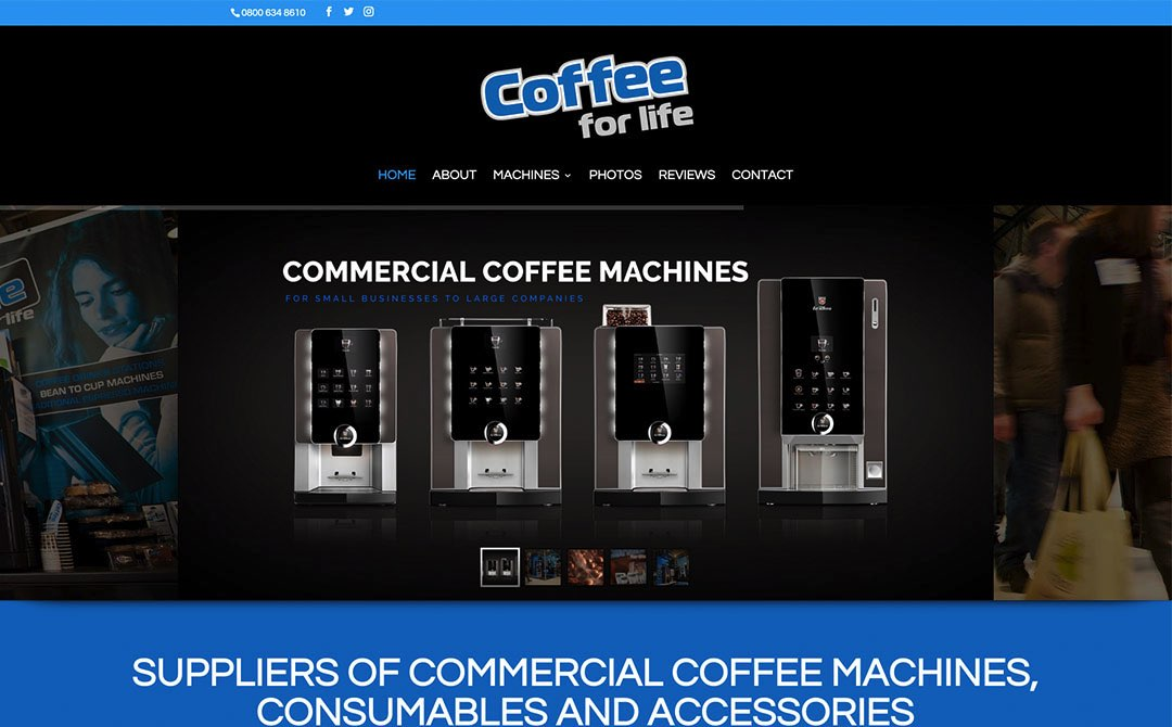 Coffee for Life - Web Designers in Glasgow