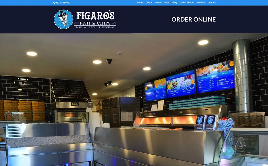 Figaros - Web Designers in Old Kilpatrick West Dunbartonshire