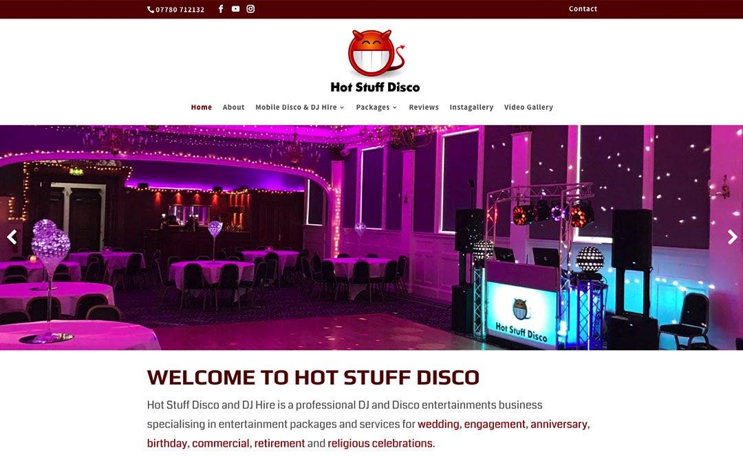 Hot Stuff Disco - Web Designers in Greenock Inverclyde
